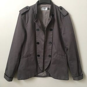 TopMan Gray Clasp Front Jacket
